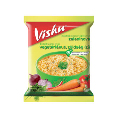 VISHU vegetáriánus zöldség ízesítésű leves 60g