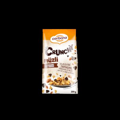 Cerbona Crunchy müzli tejcsokoládés 200g