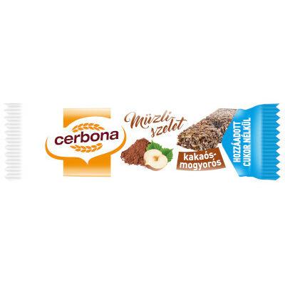 Cerbona szelet cukormentes kakaó-mogyoró 20g