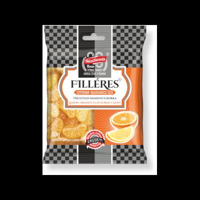 Filléres keménycukorka Citrom-narancs 80g