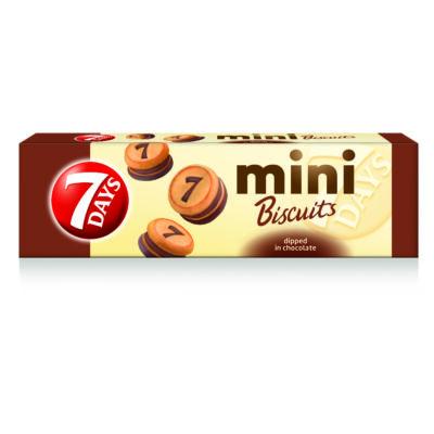 7Days Mini keksz kakaós töltelékkel töltött, tejcsokoládéval bevont 100g