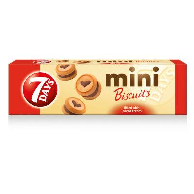 7Days Mini keksz kakaós töltelékkel töltött 100g