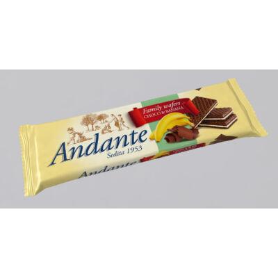 Andante nápolyi kakaós csokoládés és banános krémmel töltve 130g